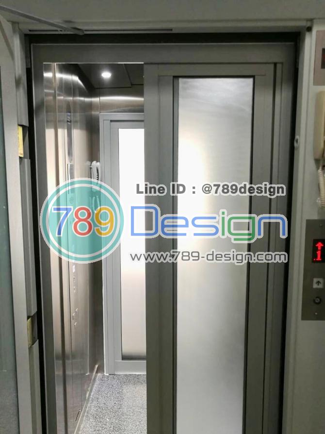 บาน PC DOOR ในลิฟท์